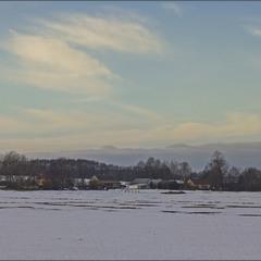 зима за селом