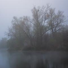 На озері осіннім ранком.