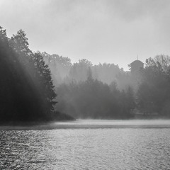 Ранок на озері що коло маєтку Ліщинських.