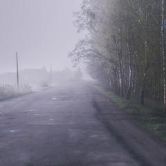 Ранок. Вулиця. Туман.