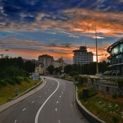 A Road to Sunset (Kyiv, Ukraine)