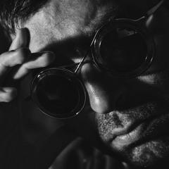 Self-portrait with Steampunk Sunglasses