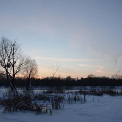 Зимний вечер на реке