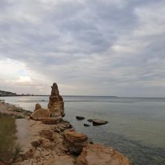 Пасмурный Черноморский пейзаж