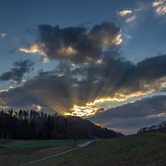 Закат в Швейцарских Альпах