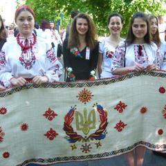 Самый длинный вышитый рушник Украины.Фрагмент.