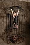 Девушка в клетке