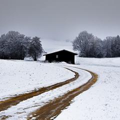 Дорога в снежную зиму