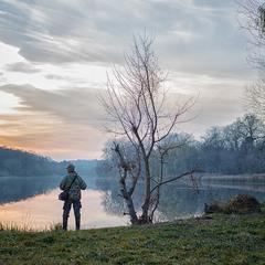Закат на реке Рось