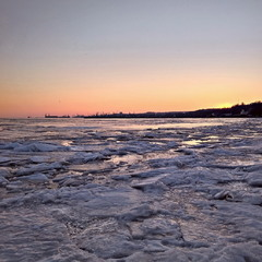 Ice Evening Sea