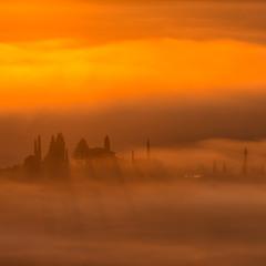 Червоне золото туманного світанку