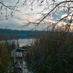 Осінній вечір на річці Унава
