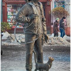 Памятник трубочисту — г. Мукачево