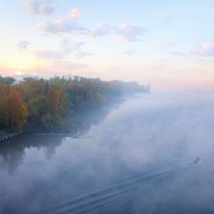 Днепр в тумане