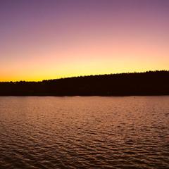 Градієнтний захід сонця