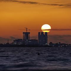 Закат у берегов Хайфы