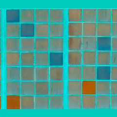 Turquoise. Glass. Past