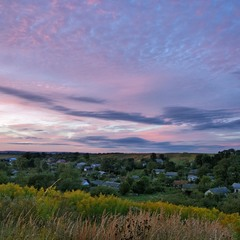 Вечірнє небо над селом