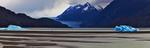 Патагония.  Ледник и озеро  Гей