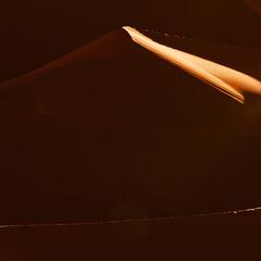 Центральная  Сахара  Пронзающеи лучи Утреннего  Солнца