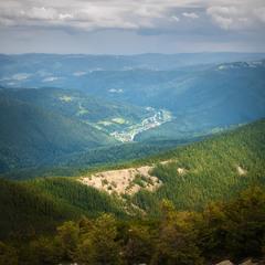 Вид с горы Хомяк