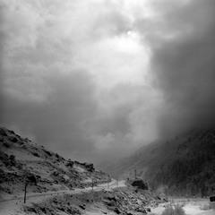 Зима в ущельи Адылсу.
