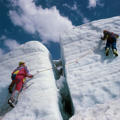 На леднике Кашкаташ.