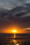 Захід сонця на Середземному морі.