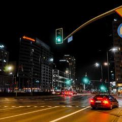 Нічні вулиці Варшави