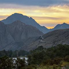 Рассвет.... Дорога в горы.....