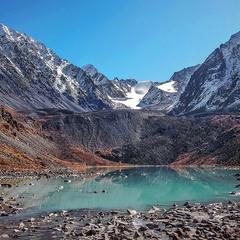 Горное озеро.....