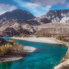 Осень... Утро... река Катунь..