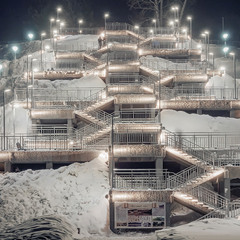 """Барнаул.... Декабрь.... Лестница в """"Нагорный парк""""......."""