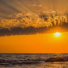 Лето... Море... Закат...
