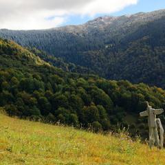 Странный момент в горах :)