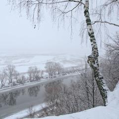 Вид зимней Десны