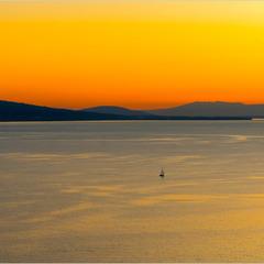 Женевське озеро. Захід сонця.