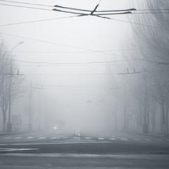 Скрывая очертания улиц