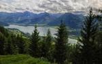 Австрийские Альпы с видом на Вольфгангзее