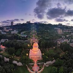 Хайфа.Вид на Бахайский Храм