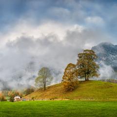 Осень в белой шапке облаков