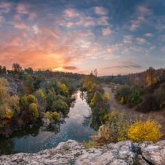 Осінній ранок в каньйоні
