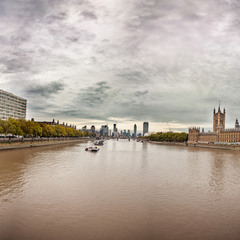 Westminster Bridge (panorama), London
