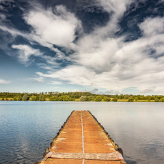 Caldecotte lake, England, UK