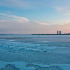Зимовий вечір блакитного сіяння…