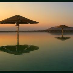 Мертвое море.Рассветный штиль