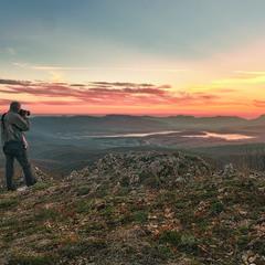 Закат над  Байдарской долиной.