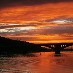 Той самий захід сонця над Києвом