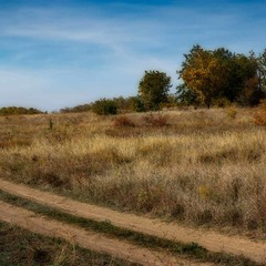 Осенний степной пейзаж