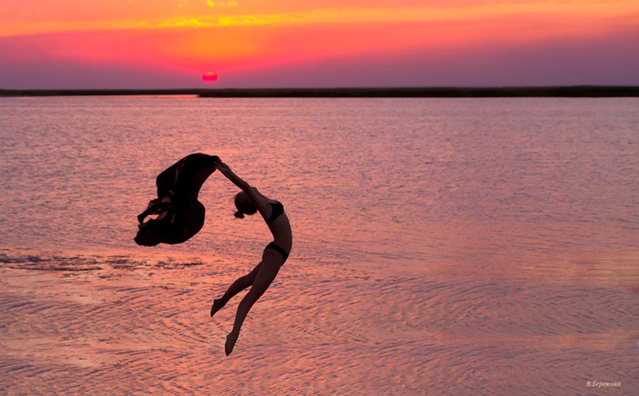 картинки с балеринами на закате каких-то